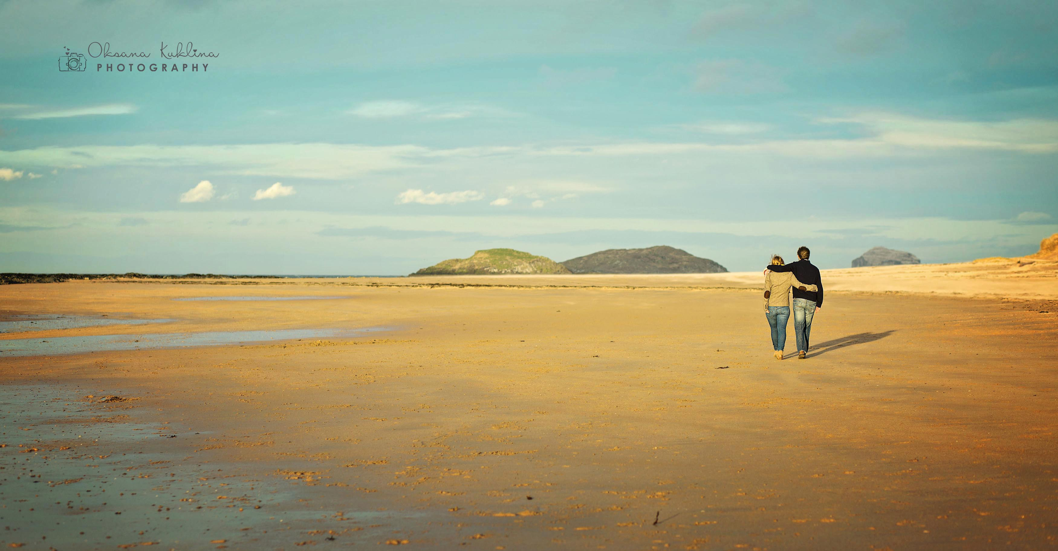 Scotland pre-wedding Photographer  - Beach Engagement Photo Session in Scotland
