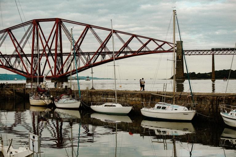 Engagement Photo Session at the Forth Bridges by Edinburgh Wedding Photographer © Oksana Kuklina Photography