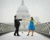 London Wedding Photographer | Engagement Photo Session on London's Millennium Bridge  with amazing Andy and Mary