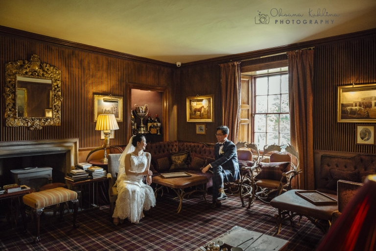 Prestonfield House Wedding Photographer | © Edinburgh Wedding Photography by Oksana Kuklina