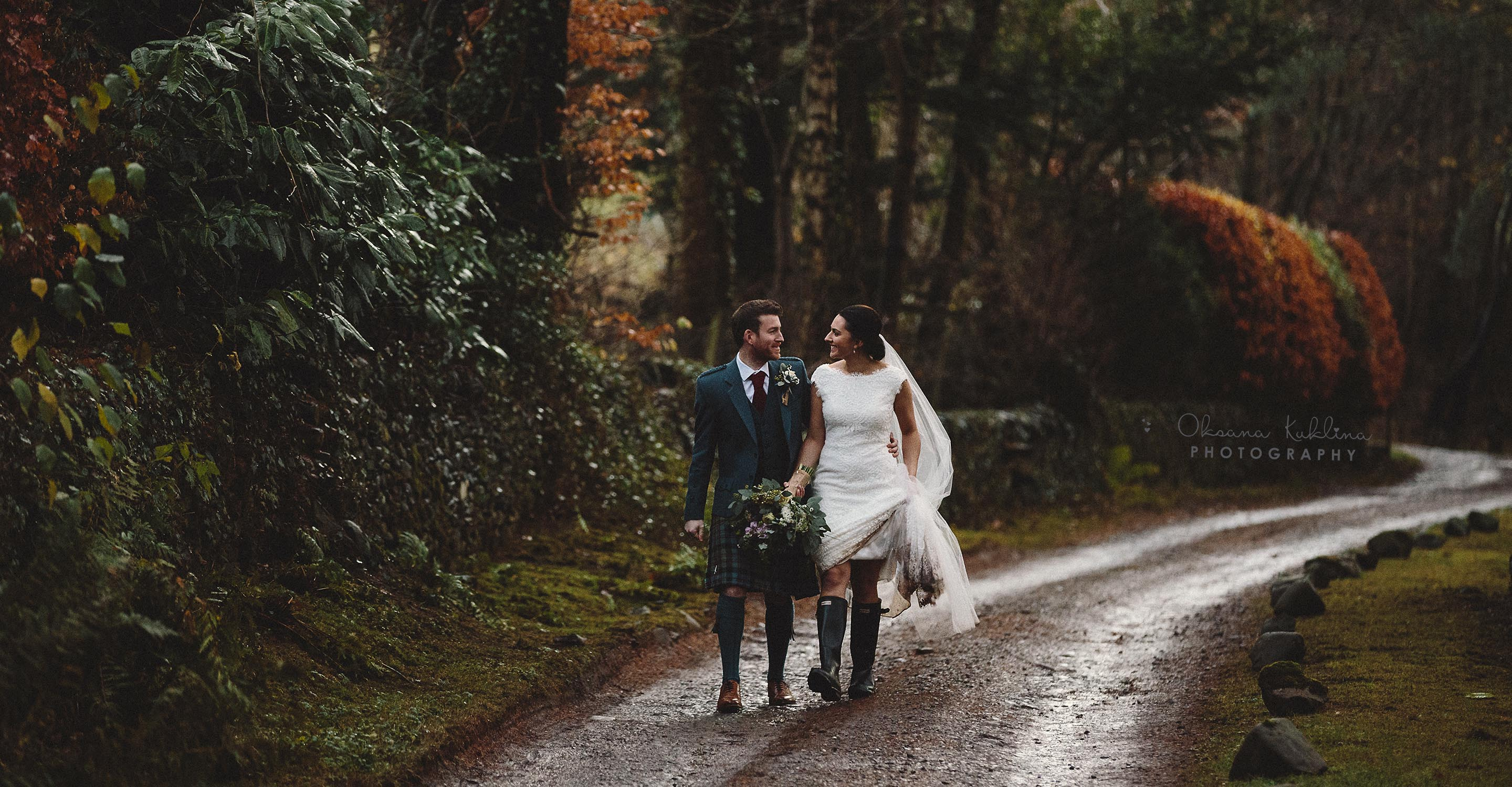 Scottish Borders wedding photographer - Aikwood Tower wedding in Scotland