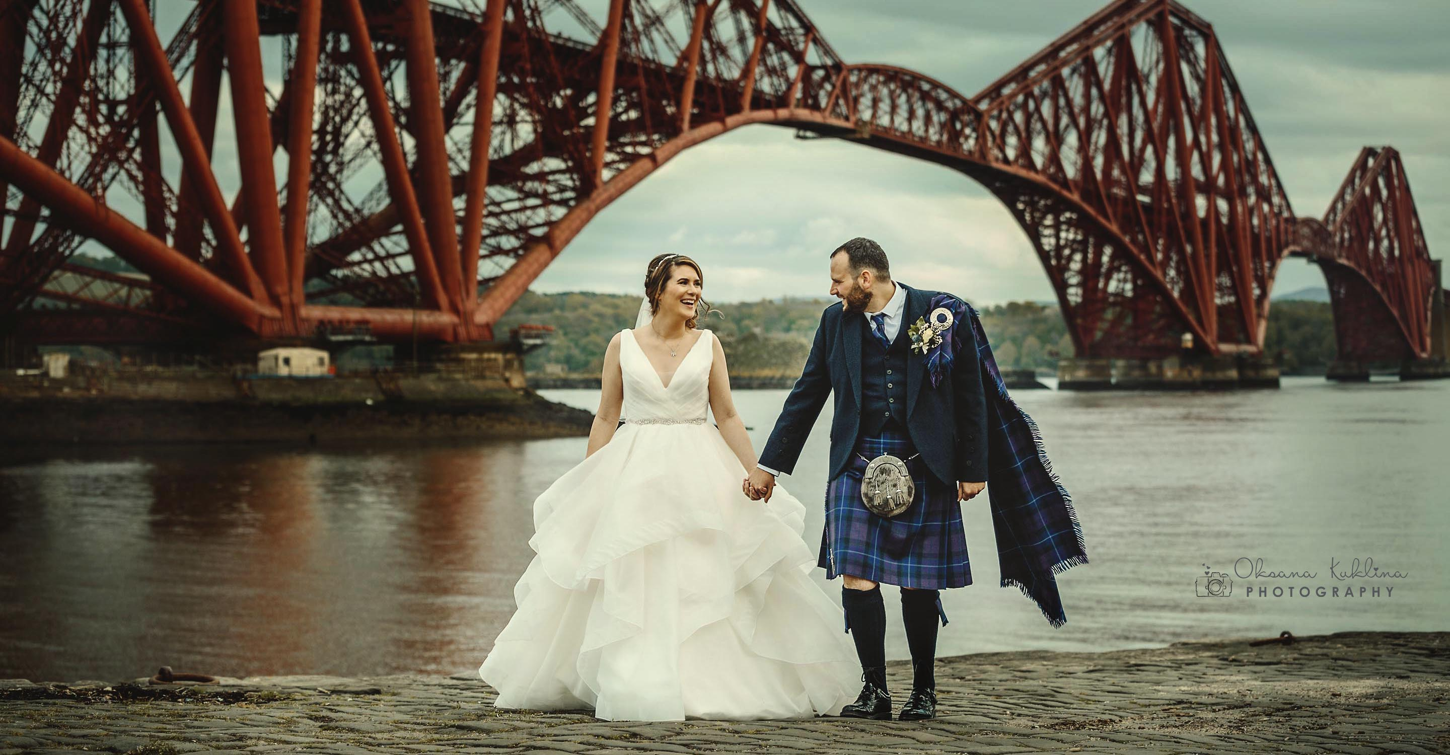 Queensferry wedding photographer - The Forth Bridge Wedding Photo - Scotland wedding photography